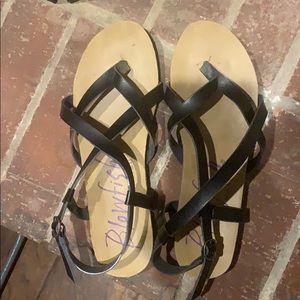 Black and Tan Blowish Sandals